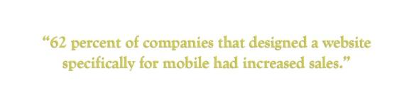 mobile website increased sales